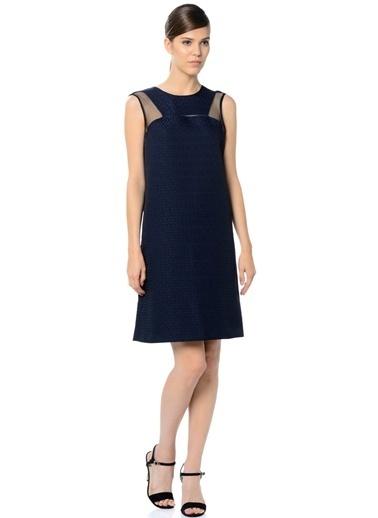 Cotton Bar Kolsuz Kısa Elbise Lacivert
